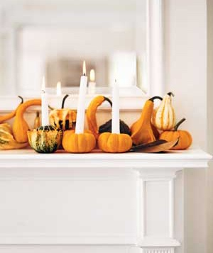 Pumpkins as candleholders