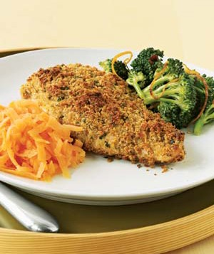 This tasty bread-crumb coating works equally well on salmon and pork tenderloin.