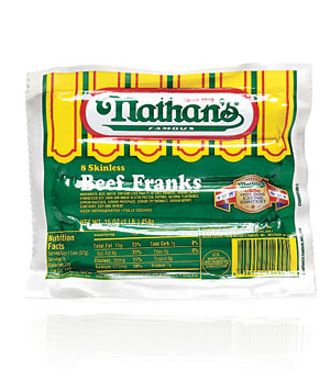 Nathan's Skinless Beef Franks