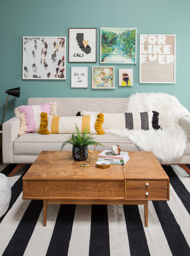 21 Living Room Decorating Ideas. Oh Joy! Green Living Room