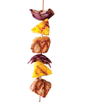 Luau on a stick kebab