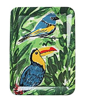 Parrot Jungle Tray by Vera for Anthropologie
