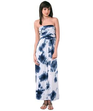 Bop Basics Tie Dye Long Tube dress