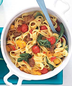 Hot Italian Sausage and Tomato Pasta
