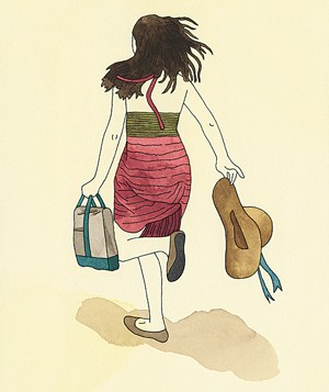 Illustration girl running