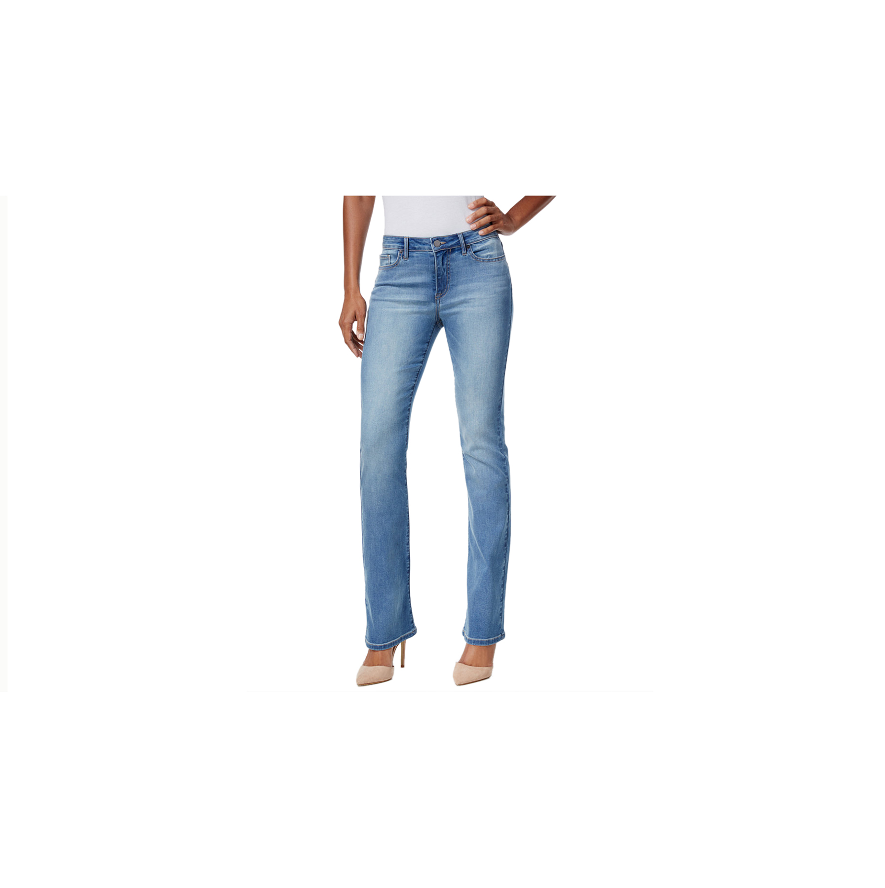 For a Straight Figure: Casual Jeans
