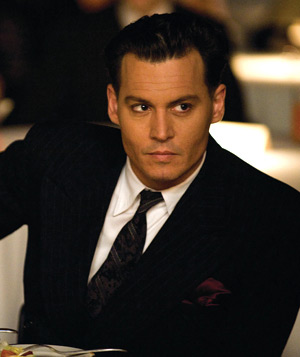 """Public Enemies"" film still of Johnny Depp"