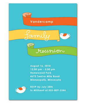 Birdie Banners invitations