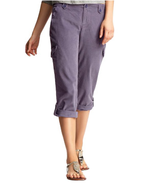 Gap Cropped Roll-up Corduroy Pants