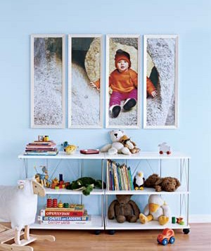 Playroom with photo art