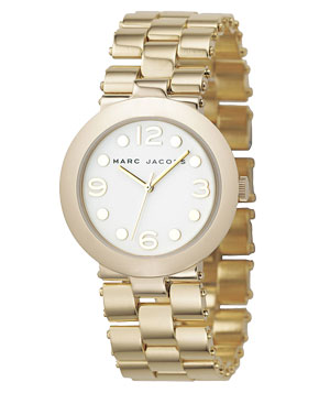 "Marc by Marc Jacobs ""Tailored Suki"" Round Dial Watch"