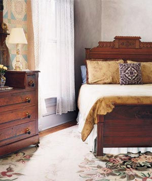 Bed and drawers
