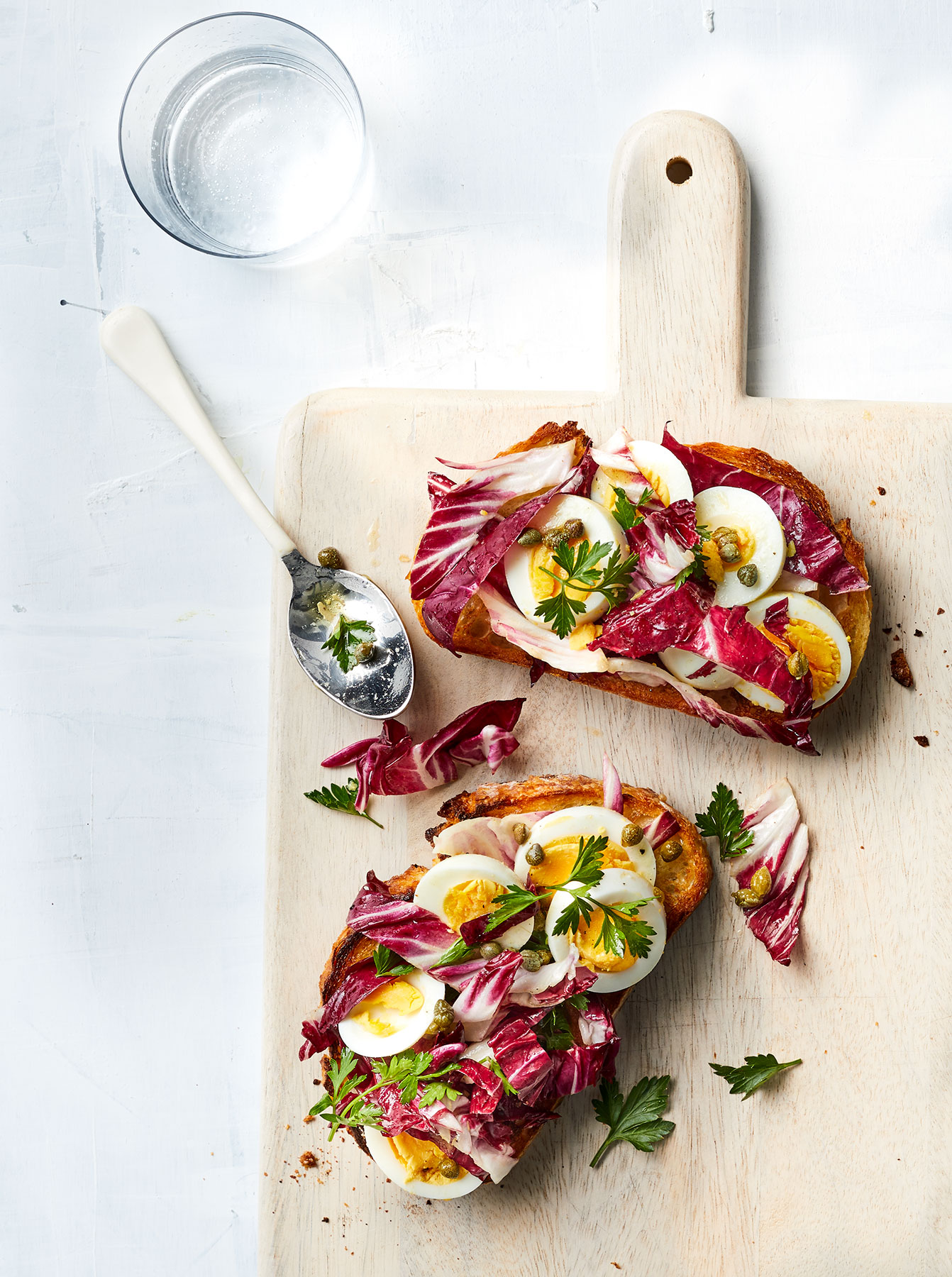 Egg Salad Toast with Fresh Herbs and Capers Recipe
