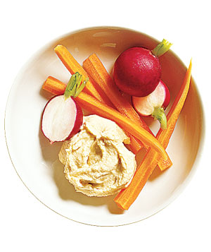 Hummus with crudites