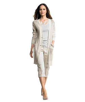 Banana Republic Long Linen Cardigan