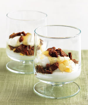 Yogurt Parfait With Crumbled Gingersnaps and Honey