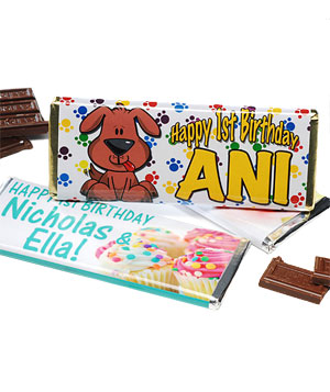Personalized Hershey's chocolate bars