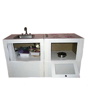 Build a Mini Kitchen Out of Empty Boxes