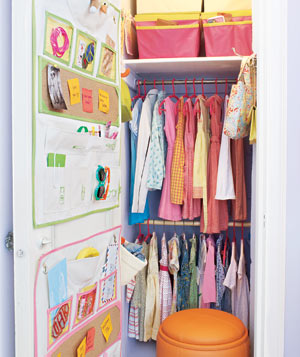 Clean and organized children's closet