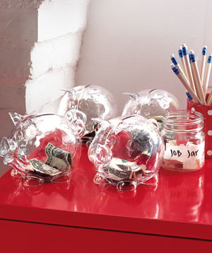 Clear piggy banks