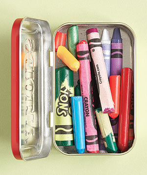 Altoids Tin as Crayon Box