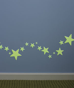 Glow-in-the-Dark Stars as Nightlights