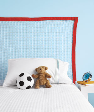 Soccer Net as Headboard