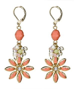 Target Beaded Flower Dangle Earrings
