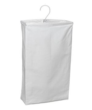Household Essentials Hanging Cotton Canvas Laundry Hamper Bag