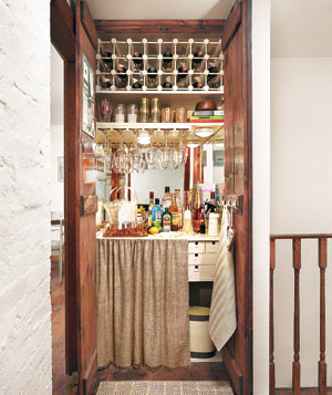 A Charming, Fully-Stocked Bar