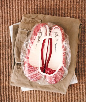 Shower cap used to protect shoes