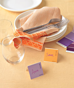 Paint Chips as Place Cards