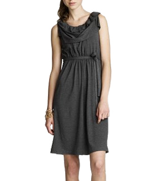 J. Crew Dressy Jersey Ruffle-Neck Dress