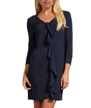 Splendid Modal Jersey Ruffle Front Dress in Navy