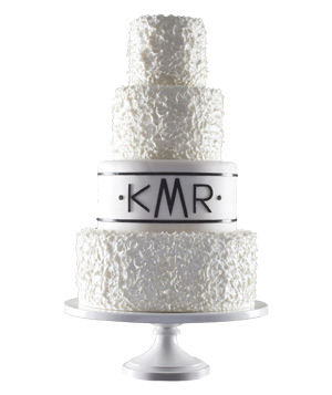 Mark Joseph Cakes almond pound wedding cake with textured icing