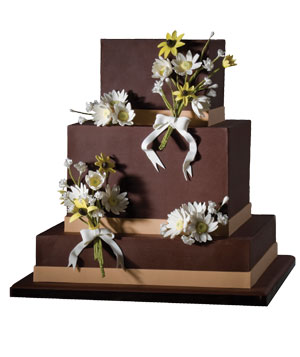 Mark Joseph Cakes Valrhona chocolate wedding cake