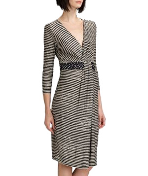 Weekend MaxMara Stripe & Dot Jersey Dress