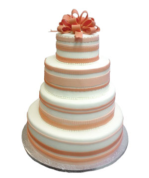 Night Kitchen Bakery ribbon wedding cake