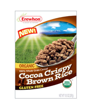 Erewhon Organic Cocoa Crispy Brown Rice cereal