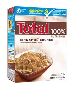 Total Cinnamon Crunch cereal