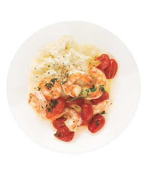 Creamy Rice With Roasted Shrimp