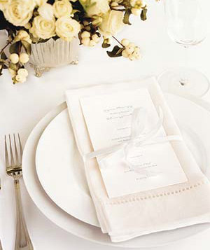 Formal reception place setting
