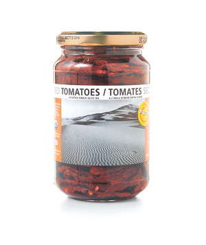 Jar of sun-dried tomatoes