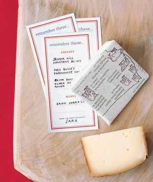 Tasting cards