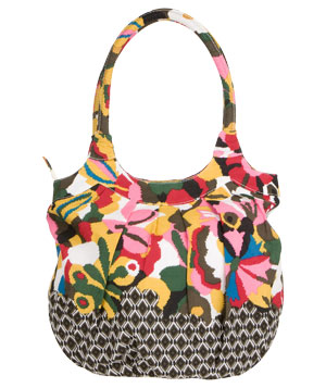 Charlotte Russe Floral Ikat Tote