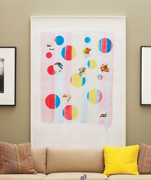 Introduce One Colorful Piece in the Center of the Room