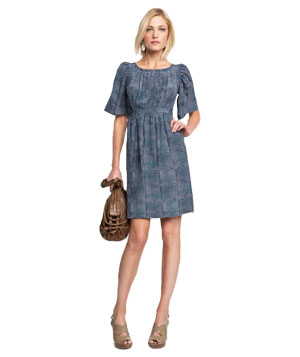 Banana Republic Silk Pleated Dress