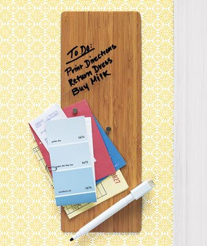 Bamboo magnetic dry-erase board