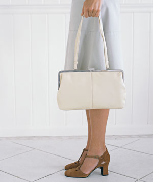 Woman holding a handbag