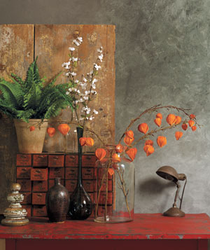 Faux branches and plants